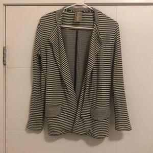 Dolan (Anthro) Soft Striped Blazer Cardigan